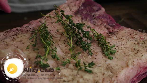 ребрышки говяжьи в духовке простой рецепт