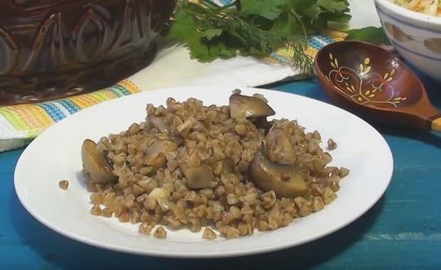 Пошаговый рецепт приготовления гречки с грибами