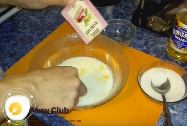 Для аромата добавляем немножко ванилина.