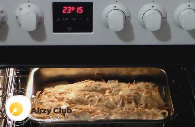 На 50 минут отправляем форму в духовку.