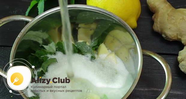 Варим лимонад на медленном огне примерно 10 минут