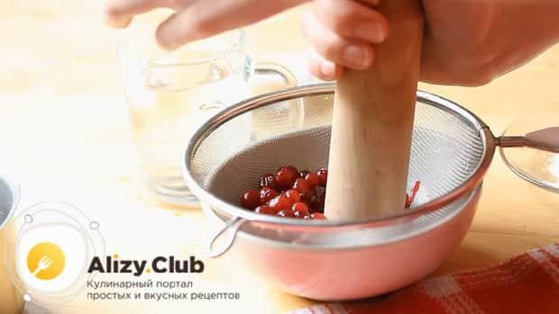 Смотрите как приготовить кисель из клюквы