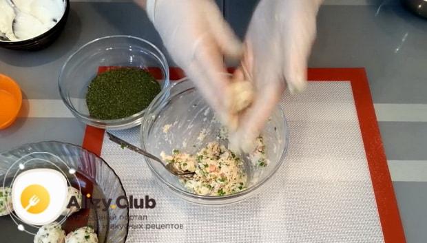 Смотрите как делать сырные шарики
