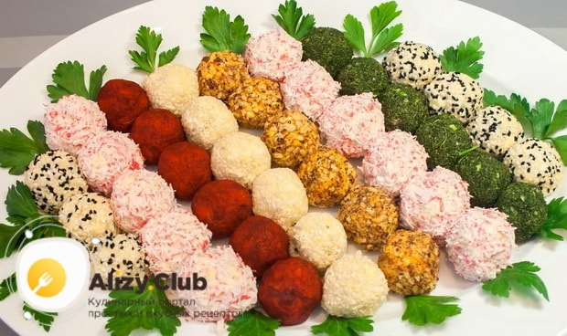Вкусные сырные шарики готовы