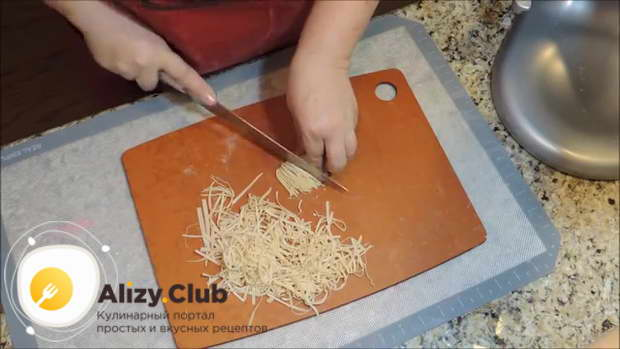 рецепт домашней лапши на яйцах