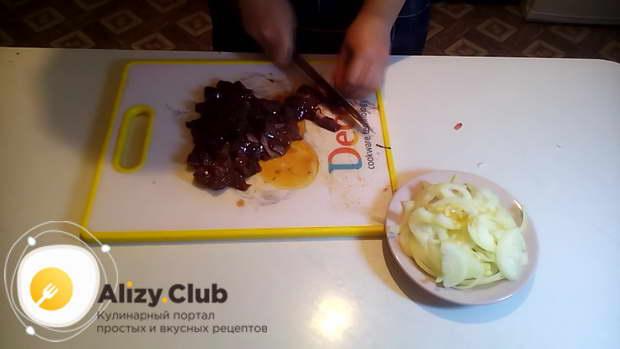 печень говяжья рецепты со сметаной
