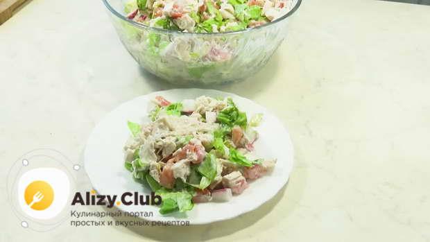 Видео рецепта легкого салата с авокадо