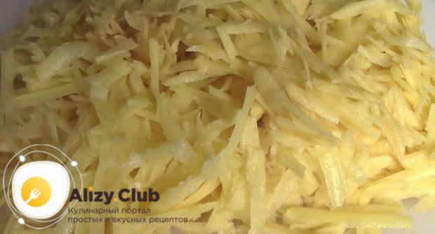 рецепт бабки картофельной в духовке с салом