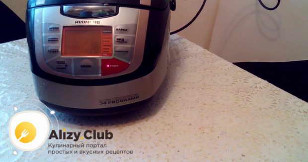 Устанавливаем режим «выпечка» на 1 час 20 минут