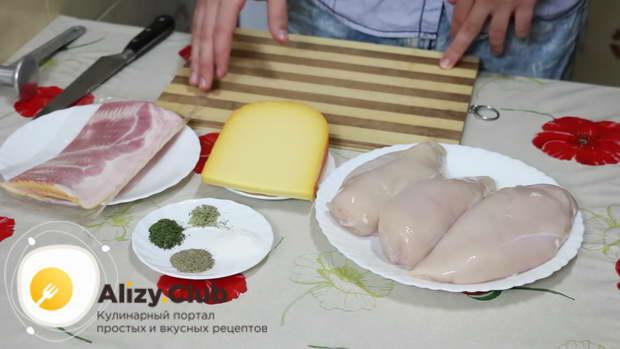 Как выбрать продукты для куриных рулетов с беконом