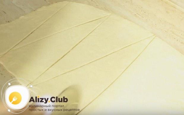 Таеие круассаны можно делать из слоеного бездрожжевого теста.