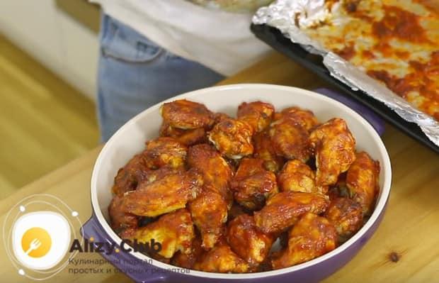 Вот мы и приготовили аппетитные куриные крылышки в духовке с хрустящей корочкой!