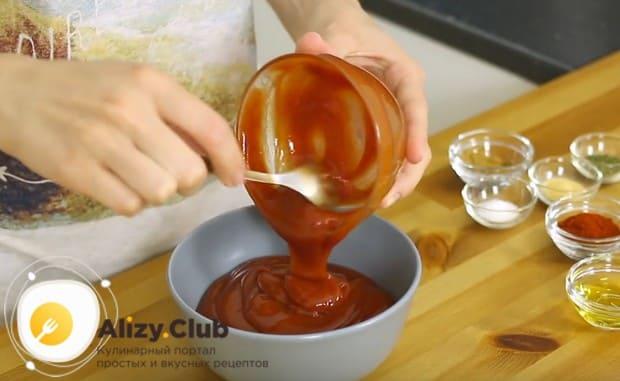 Сделаем соус, чтобы приготовить острые крылышки в духовке с хрустящей корочкой.