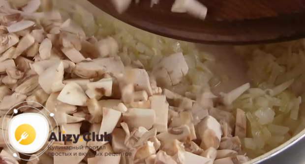 Пошаговый рецепт мясного салата с грибами