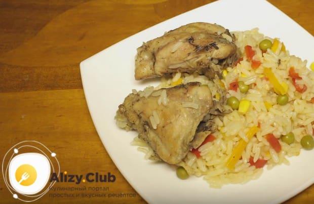 Куриные бедра с рисом в мультиварке станут прекрасным ужином для всей семьи.