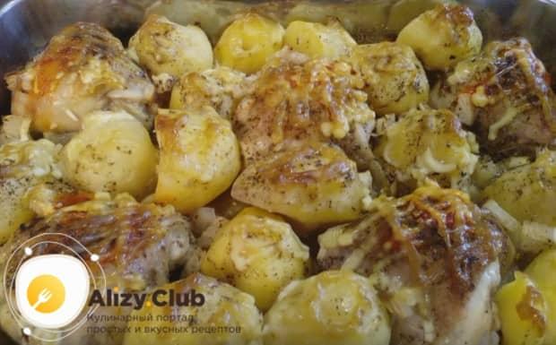 Как видите, рецепт куриных бедрышек в духовке с картошкой простой и подходит для сытного ужина.
