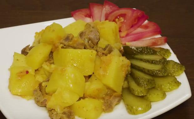 Как вкусно приготовить куриные желудки в мультиварке