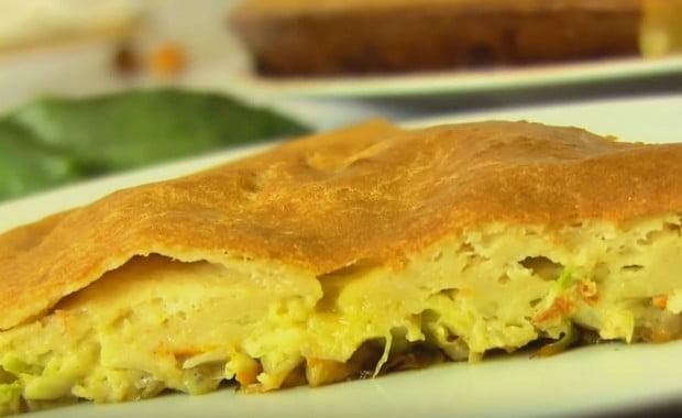 Пошаговый рецепт приготовления ленивого пирога с капустой