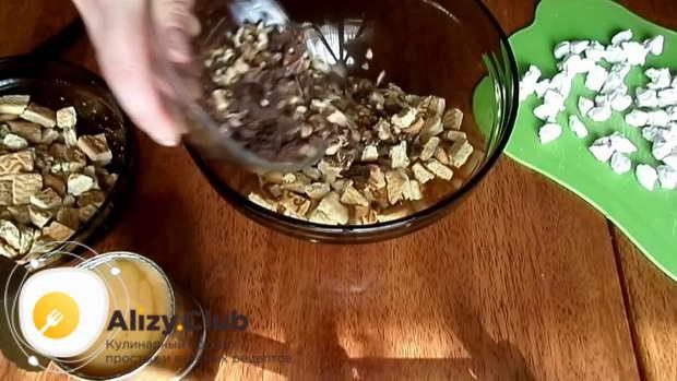 Пошаговый рецепт пирожного Муравейник из печенья