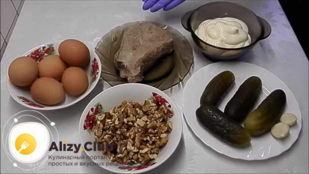 Рецепт очень вкусного мясного салата с фото