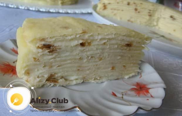 Для приготовления торта наполеон на сковороде, подготовьте ингредиенты