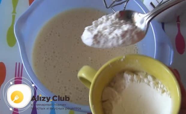 Готовим наполеон на сковороде с заварным кремом