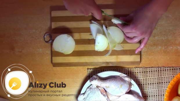 Окорочка в рукаве с картошкой в духовке