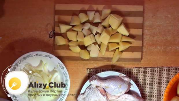Окорочка в рукаве с картошкой