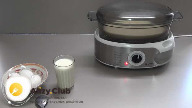 как приготовить омлет на пару без пароварки