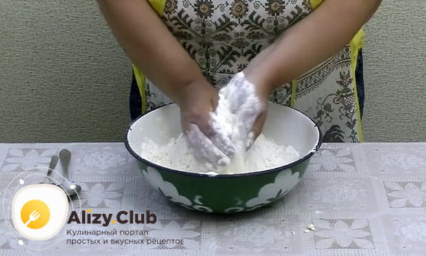 смешиваем компоненты руками