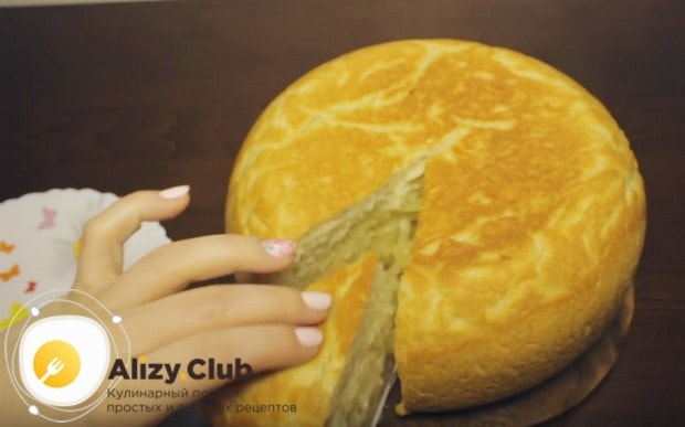 Постный пирог с капустой в мультиварке получатся высоким и пышным!