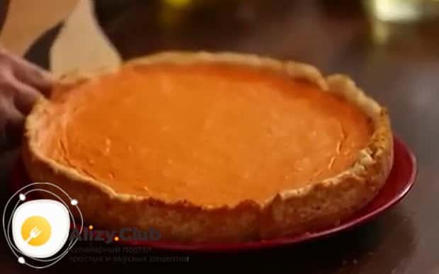 Вкусный американский тыквенный пирог готов
