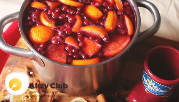 Готовим очень вкусный безалкогольный глинтвейн с апельсином по детальному рецепту