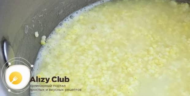 По рецепту, для приготовлению блинов на кулеше из пшена, подготовьте ингредиенты