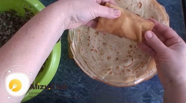 Как готовится начинка для блинов из печени говяжьей