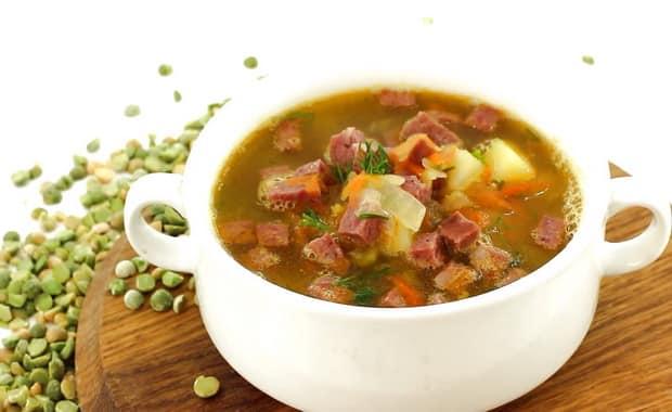 Суп с колбасой по рецепту с фото