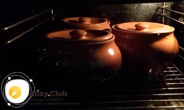 Смотрите как готовится гречка с овощами в горшочке в духовке