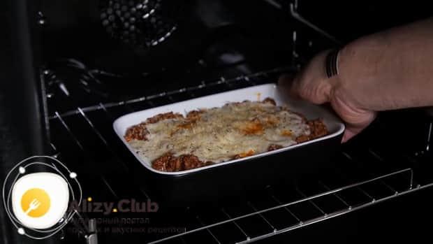 По рецепту для приготовления каннеллони, разогреваем духовку