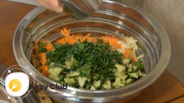 По рецепту для приготовления кольраби, соедините ингредиенты