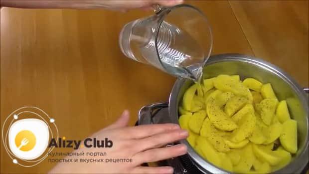Для приготовления хинкала дагестанского с курицей. следуя рецепту с фото добавьте картофель