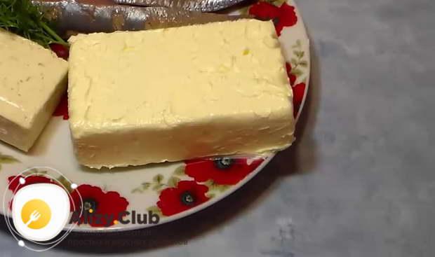 Рецепт селедочного масла с плавленым сыром