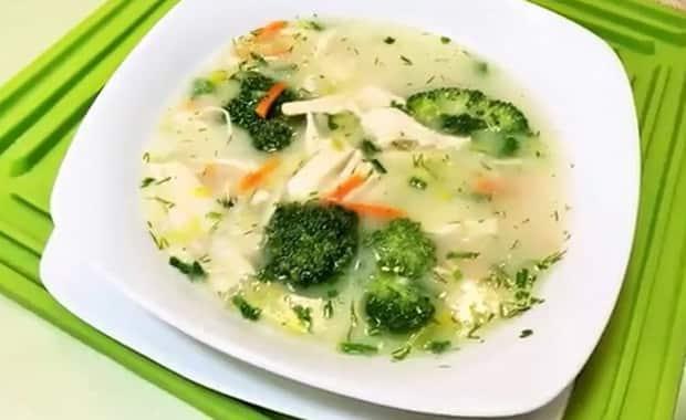 Как приготовить суп из брокколи с курицей