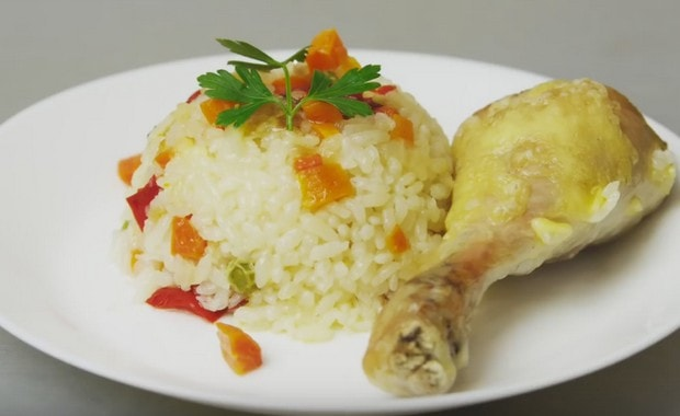Как приготовить рис с курицей и овощами по пошаговому рецепту с фото