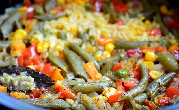 Как приготовить рис с овощами в мультиварке по пошаговому рецепту с фото