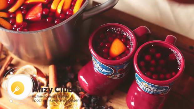 Видео рецепта безалкогольного рождественского глинтвейна