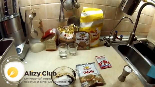 По рецепту для приготовления ржаного хлеба на закваске, добавьте ингредиенты