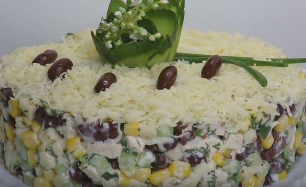 Как приготовить салат с красной фасолью по пошаговому рецепту с фото