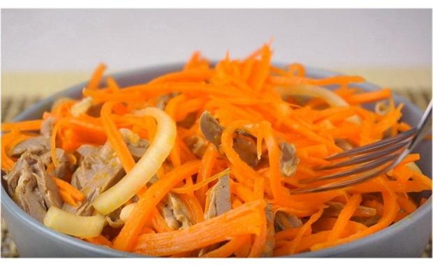 Как приготовить салат из куриных сердечек по пошаговому рецепту с фото