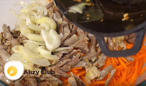 Готовим вкусный салат из куриных сердец в домашних условиях