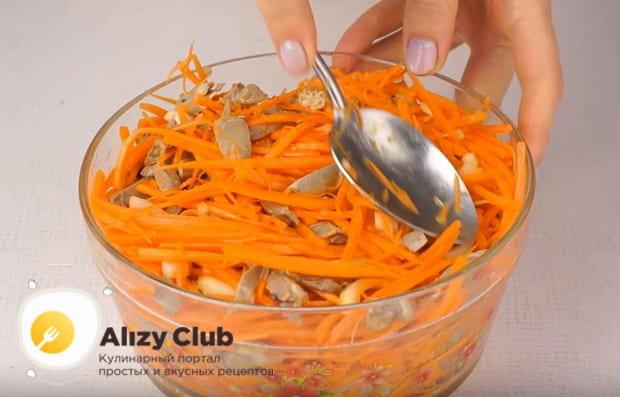 Как приготовить салат с куриными сердечками по детальному рецепту с фото и видео